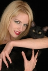 Suzi Lorraine and her familiar, Loki.